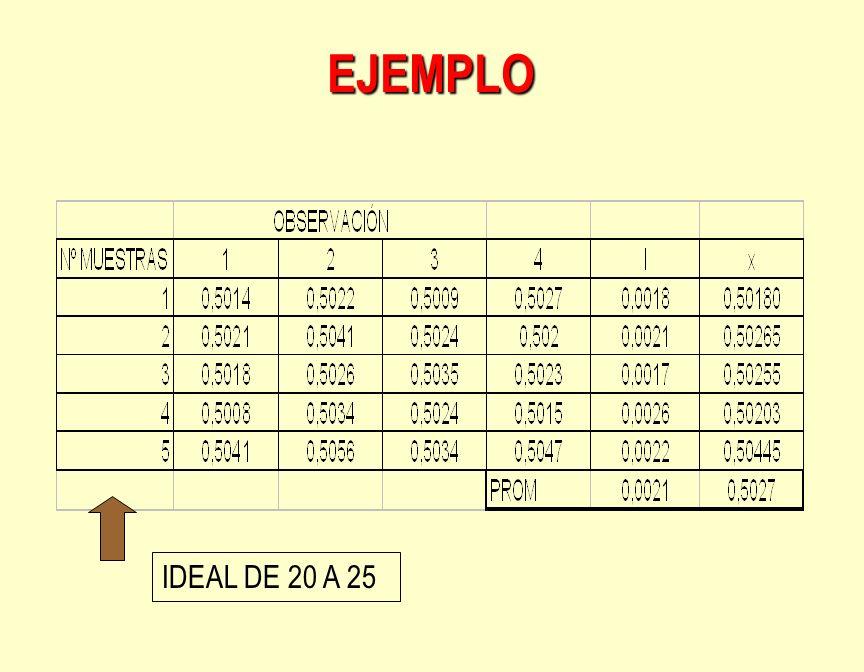 EJEMPLO IDEAL DE 20 A 25