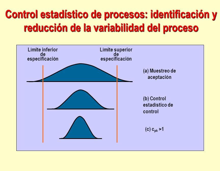 Control estadístico de procesos: identificación y reducción de la variabilidad del proceso