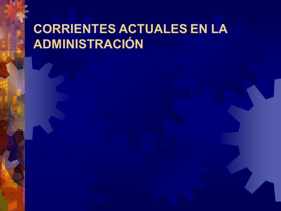 CORRIENTES ACTUALES EN LA ADMINISTRACIÓN