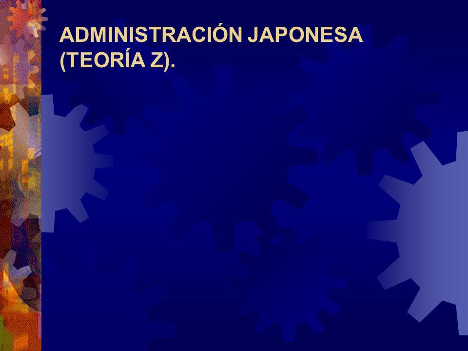 ADMINISTRACIÓN JAPONESA (TEORÍA Z).