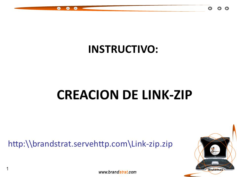 INSTRUCTIVO: CREACION DE LINK-ZIP