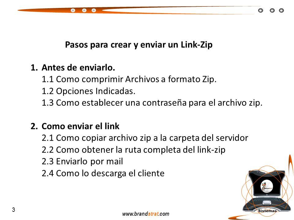 Pasos para crear y enviar un Link-Zip