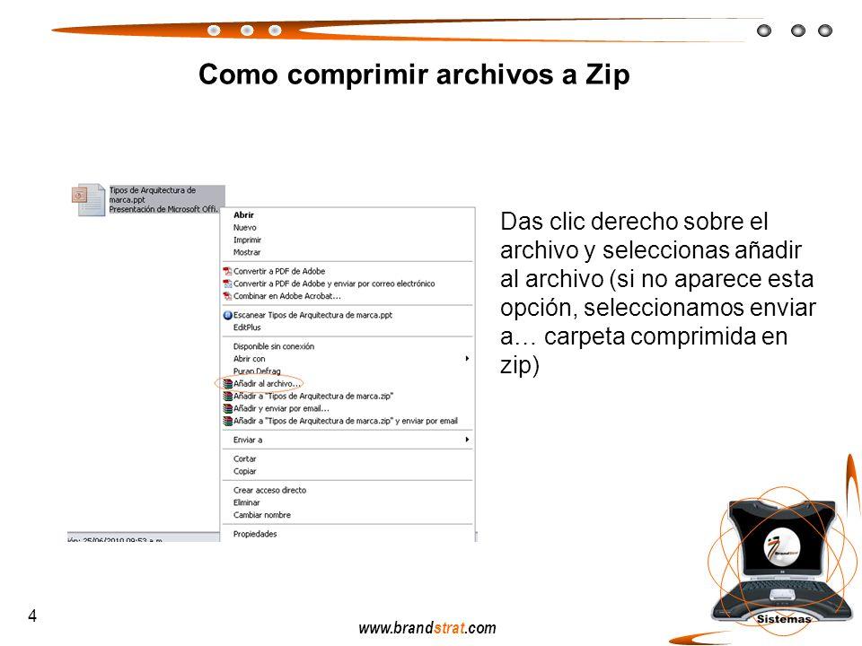 Como comprimir archivos a Zip