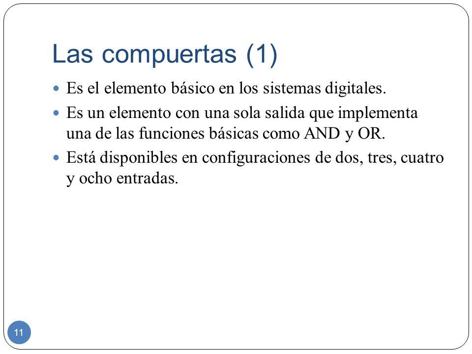 Las compuertas (1) Es el elemento básico en los sistemas digitales.