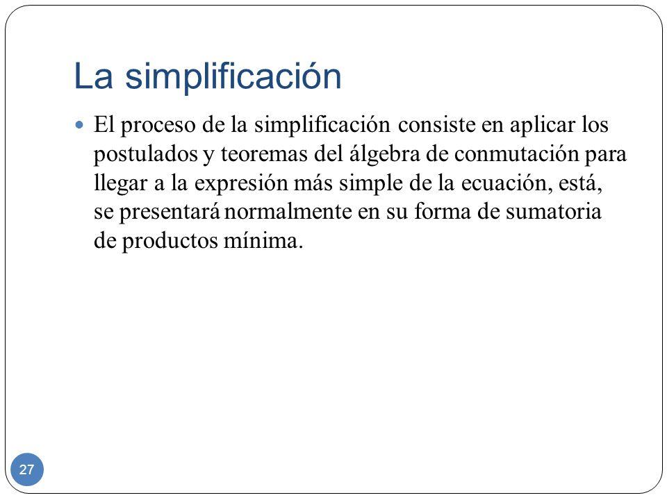 La simplificación