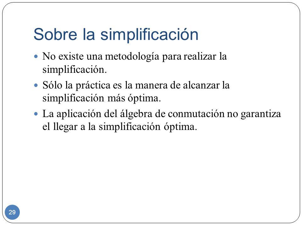 Sobre la simplificación