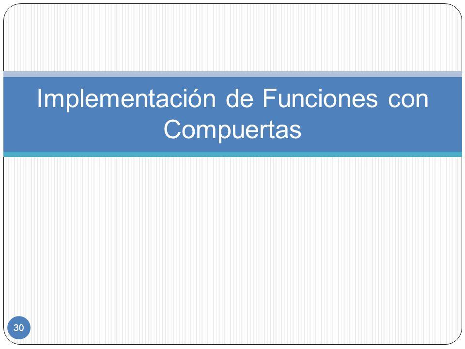 Implementación de Funciones con Compuertas