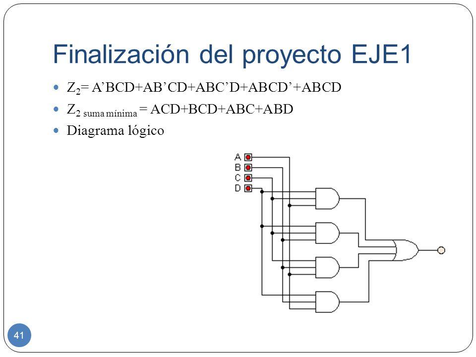 Finalización del proyecto EJE1