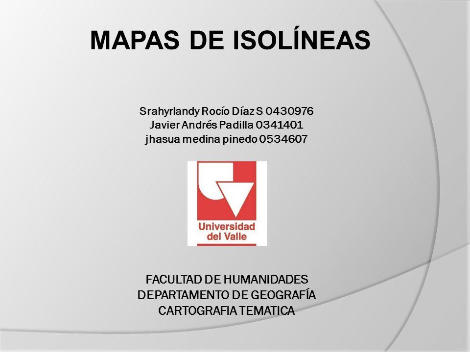 MAPAS DE ISOLÍNEAS