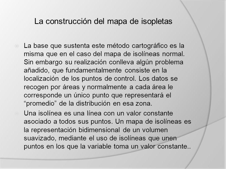 La construcción del mapa de isopletas
