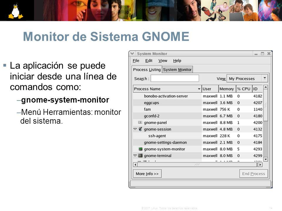 Monitor de Sistema GNOME
