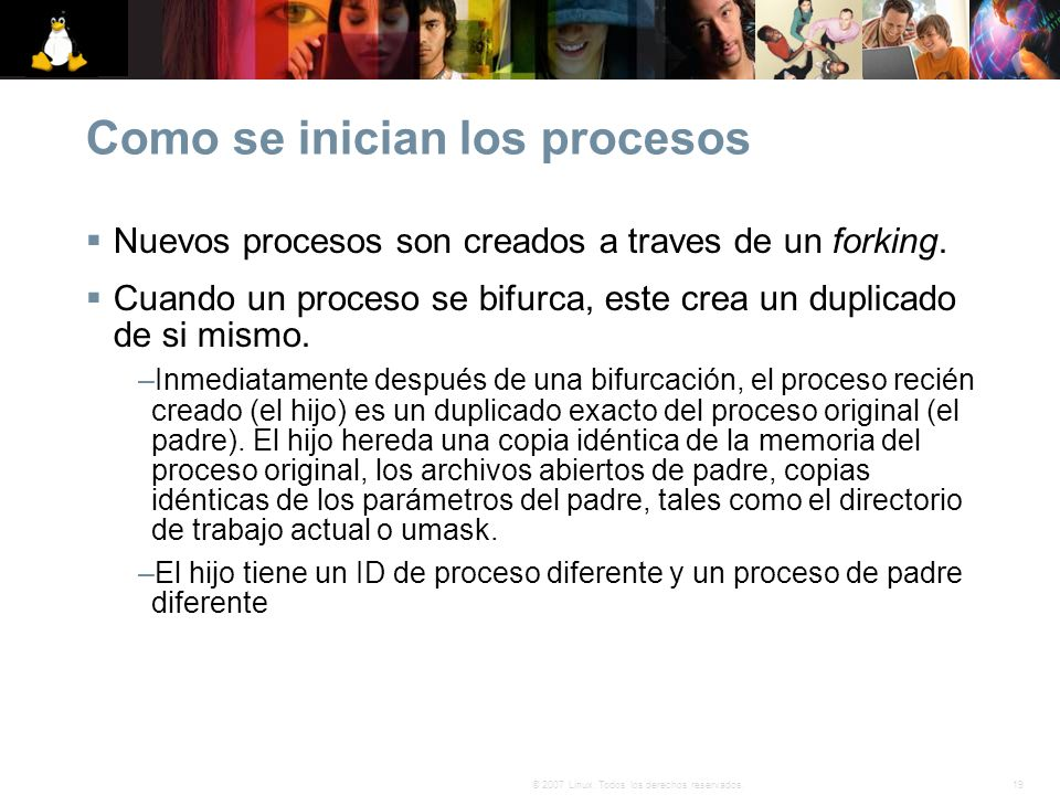 Como se inician los procesos