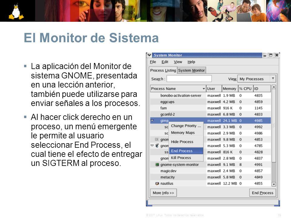 El Monitor de Sistema
