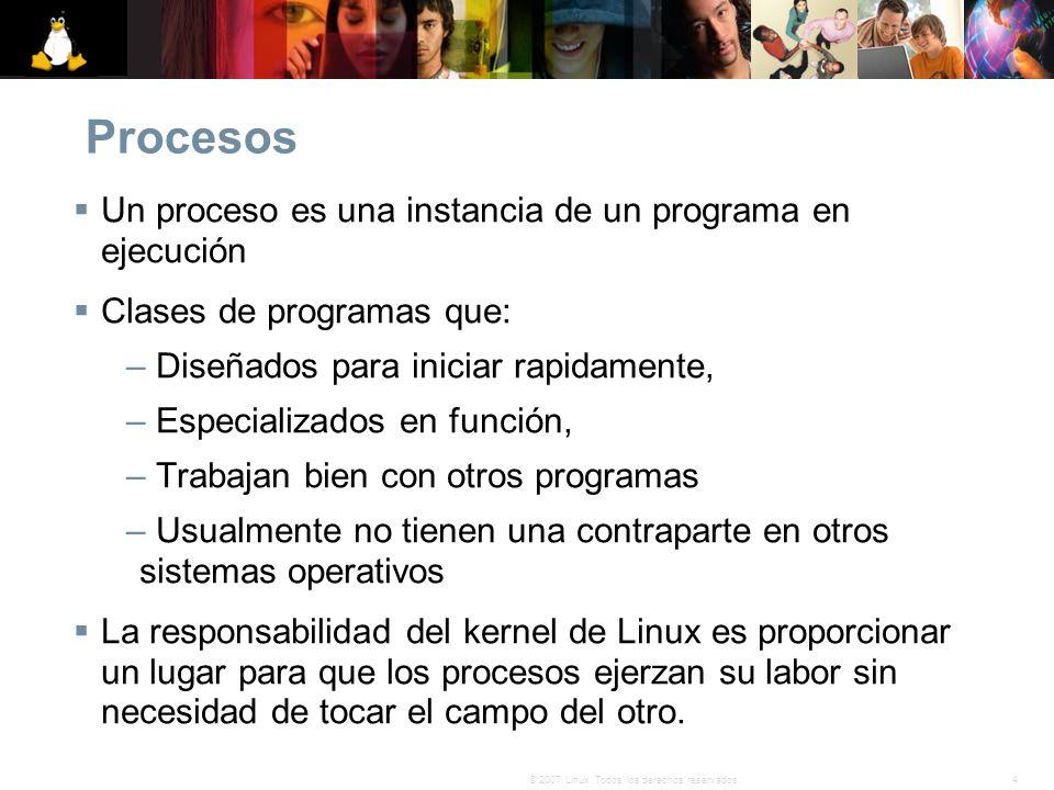 Procesos Un proceso es una instancia de un programa en ejecución
