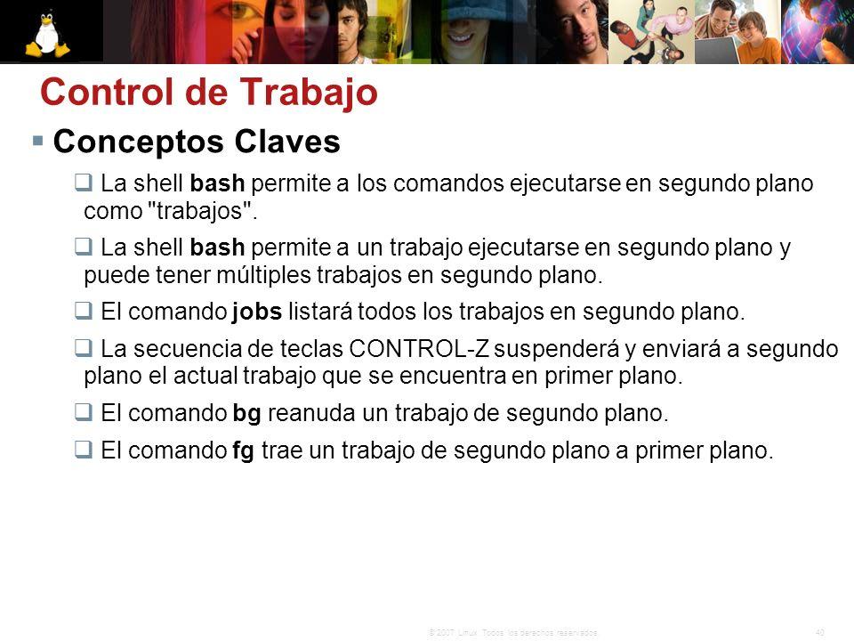Control de Trabajo Conceptos Claves