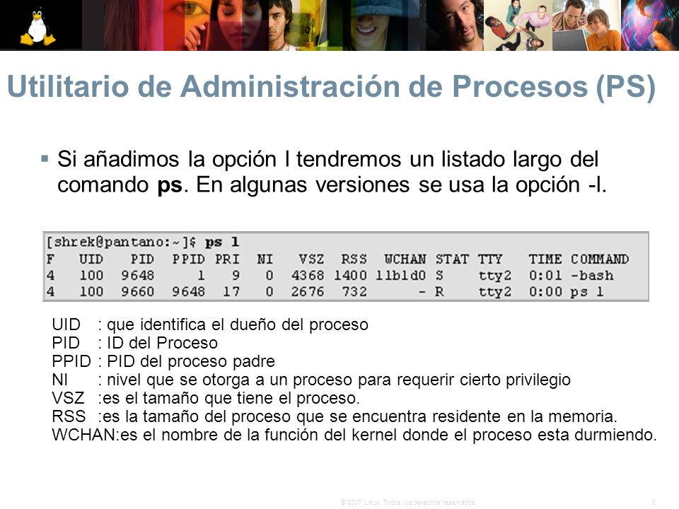 Utilitario de Administración de Procesos (PS)