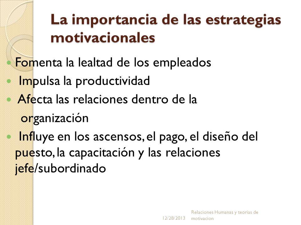 La importancia de las estrategias motivacionales