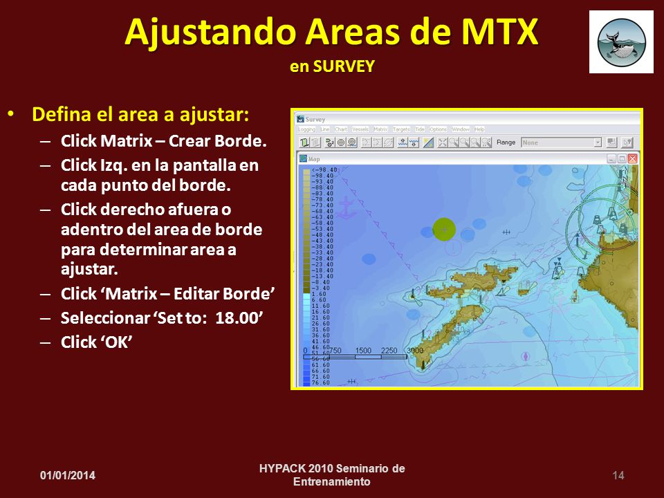 Ajustando Areas de MTX en SURVEY