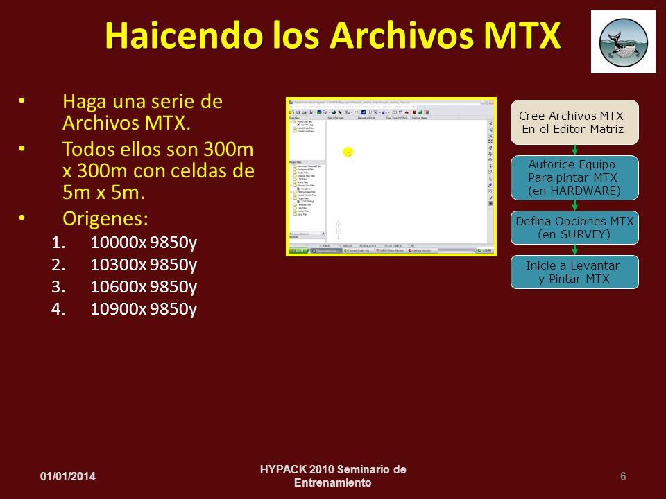 Haicendo los Archivos MTX