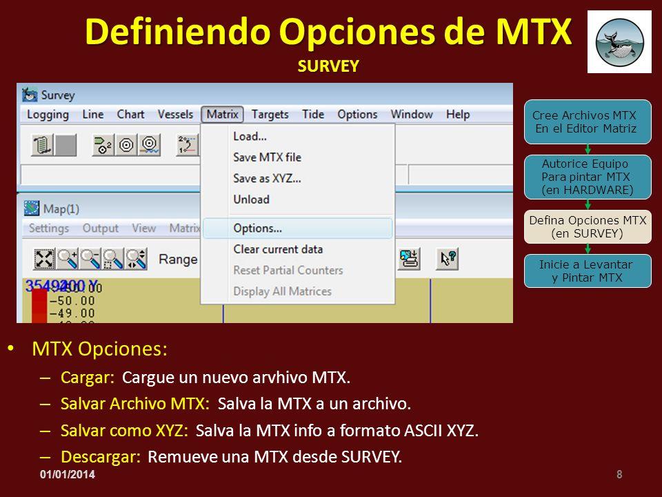Definiendo Opciones de MTX SURVEY