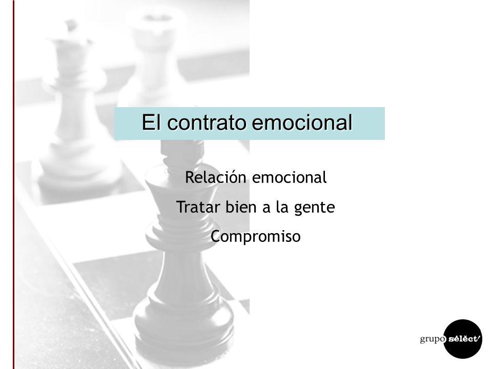 El contrato emocional Relación emocional Tratar bien a la gente