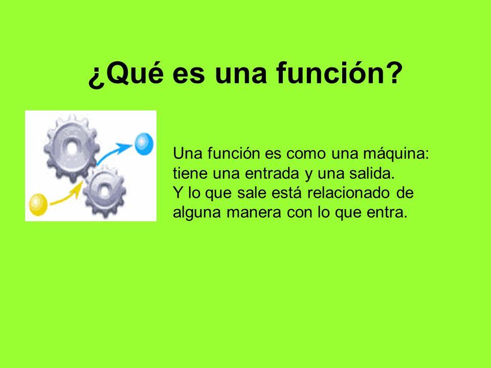 ¿Qué es una función Una función es como una máquina: tiene una entrada y una salida.