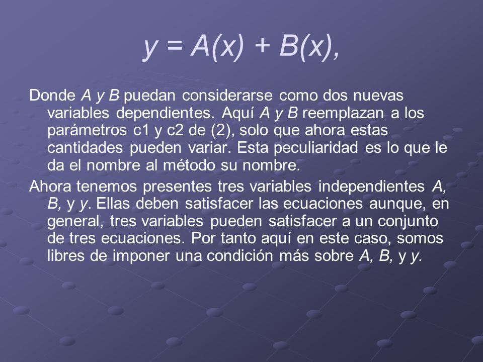 y = A(x) + B(x),