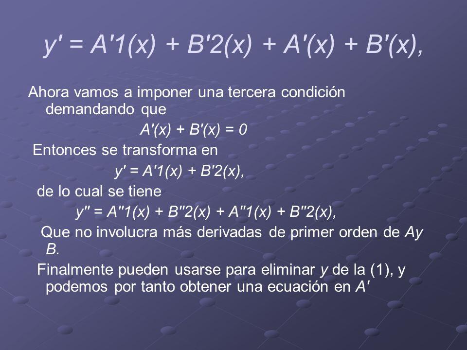 y = A 1(x) + B 2(x) + A (x) + B (x),