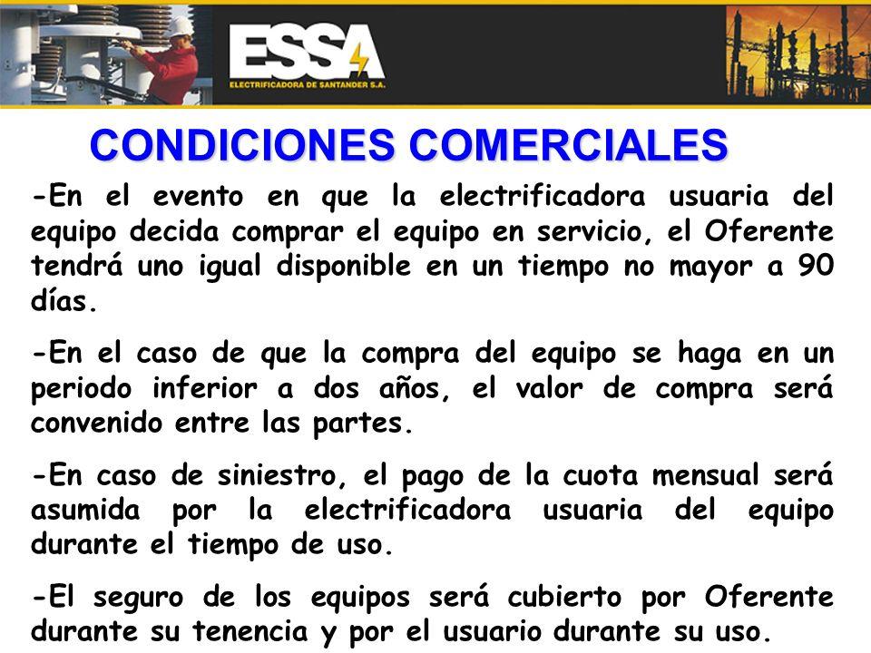 CONDICIONES COMERCIALES
