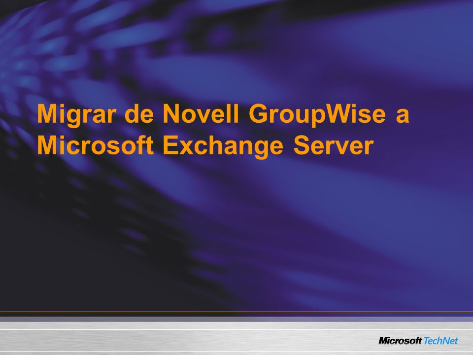 Migrar de Novell GroupWise a Microsoft Exchange Server