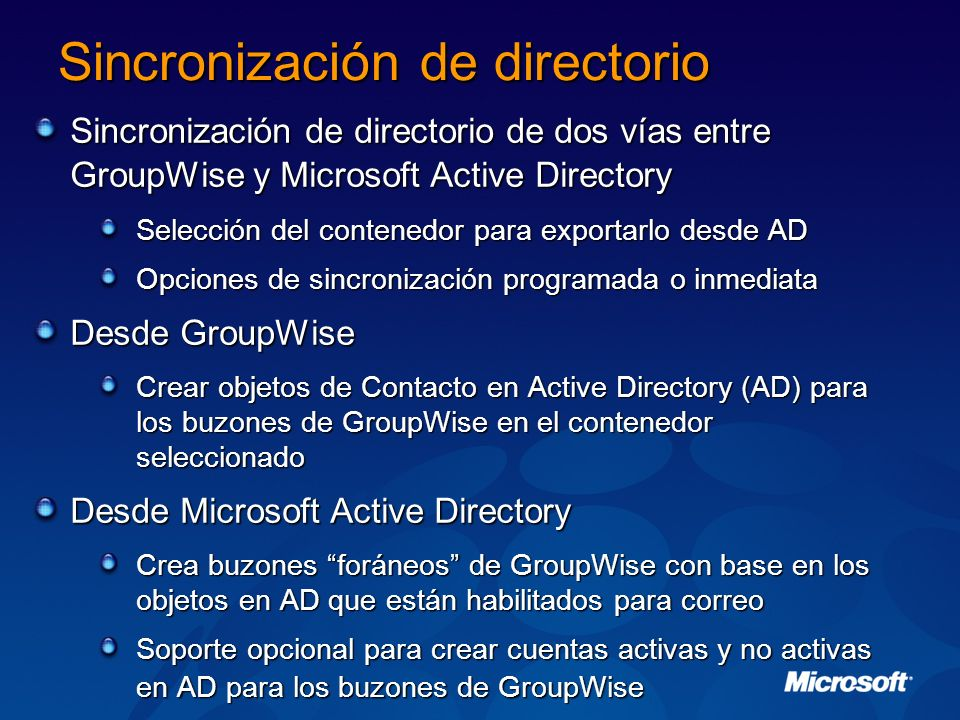 Sincronización de directorio