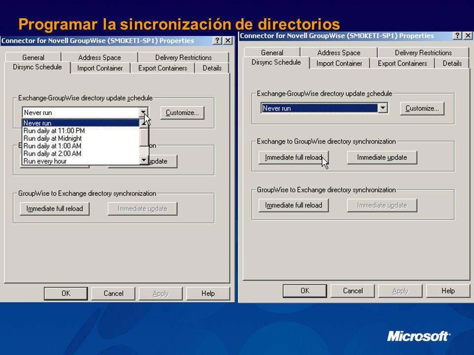 Programar la sincronización de directorios