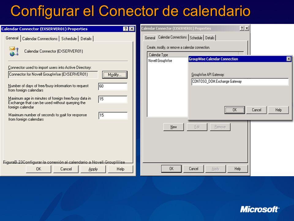 Configurar el Conector de calendario