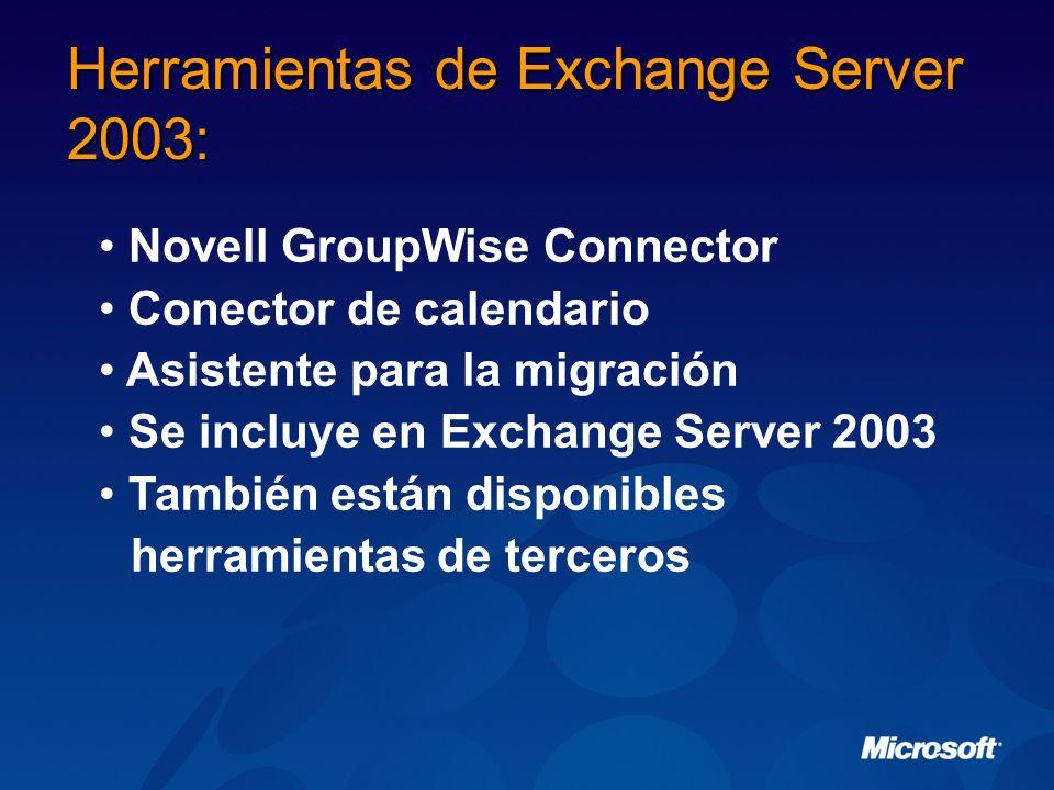 Herramientas de Exchange Server 2003:
