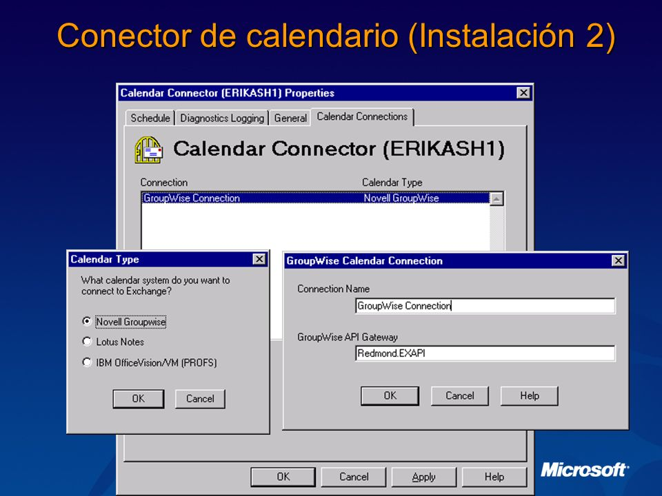 Conector de calendario (Instalación 2)