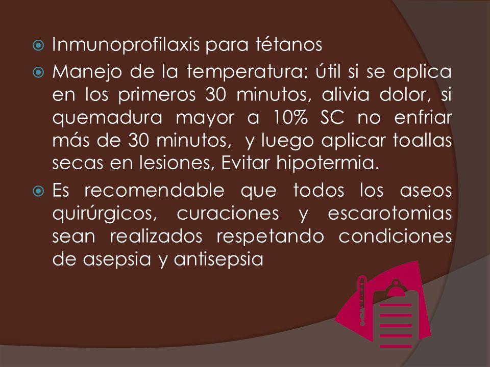 Inmunoprofilaxis para tétanos
