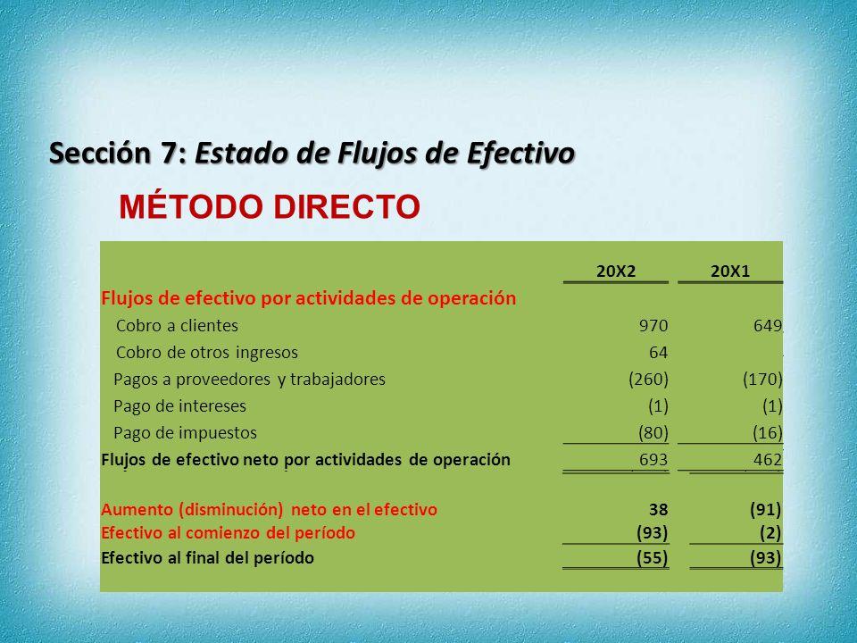 Sección 7: Estado de Flujos de Efectivo