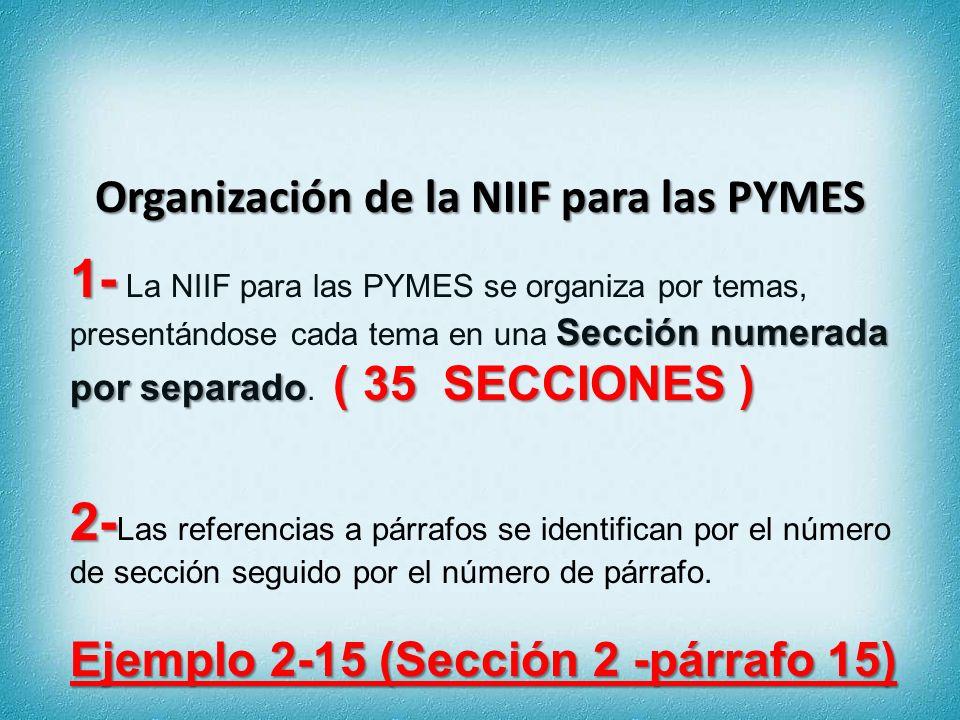 Organización de la NIIF para las PYMES