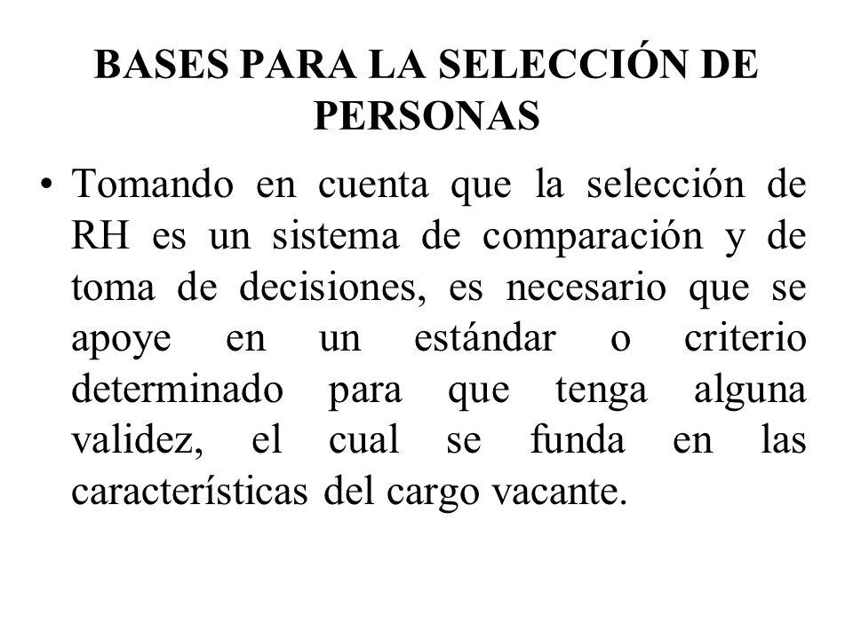 BASES PARA LA SELECCIÓN DE PERSONAS