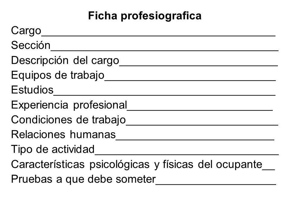 Ficha profesiografica
