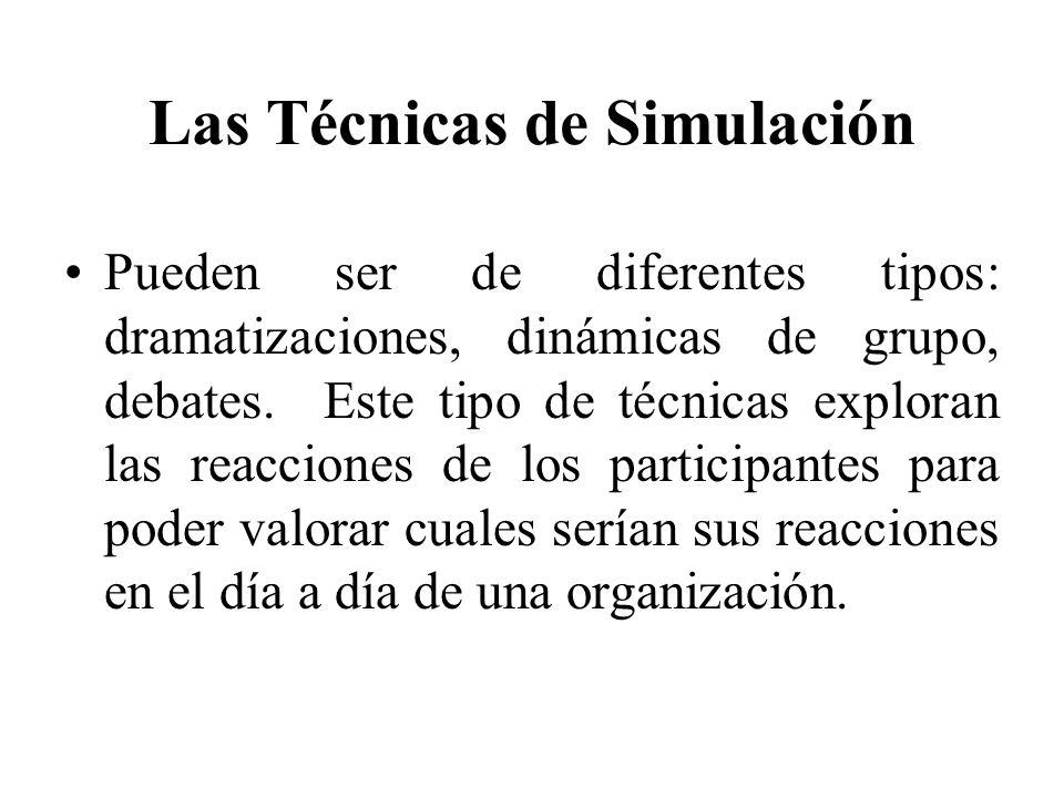 Las Técnicas de Simulación