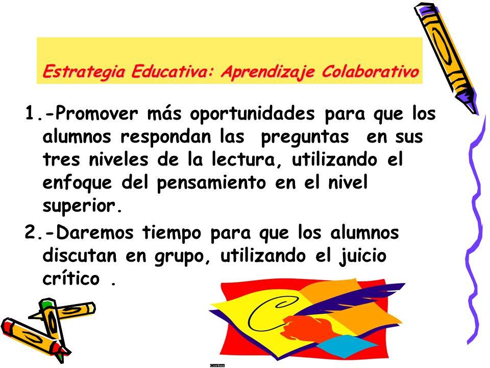 Estrategia Educativa: Aprendizaje Colaborativo