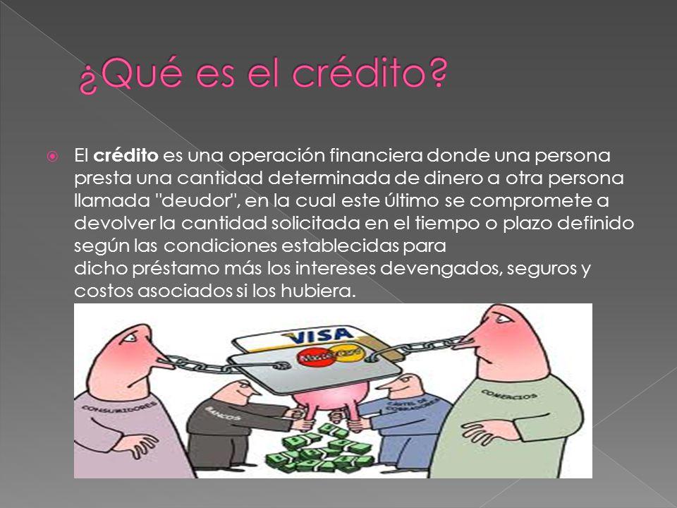 ¿Qué es el crédito