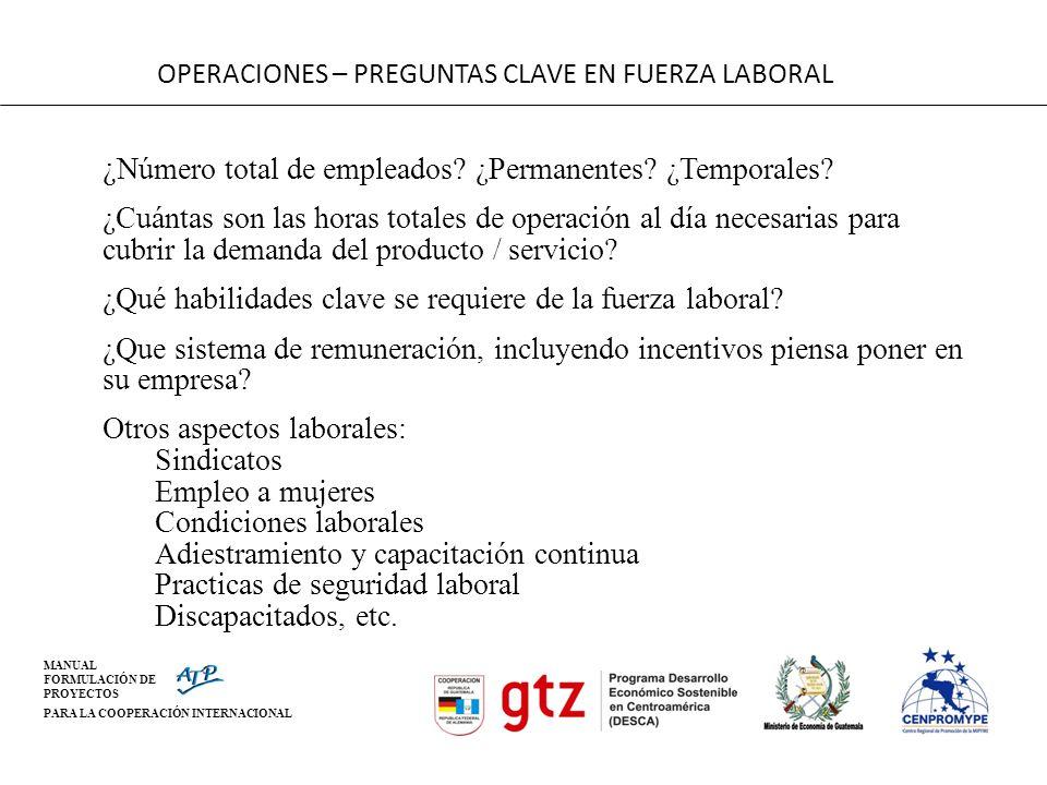 OPERACIONES – PREGUNTAS CLAVE EN FUERZA LABORAL