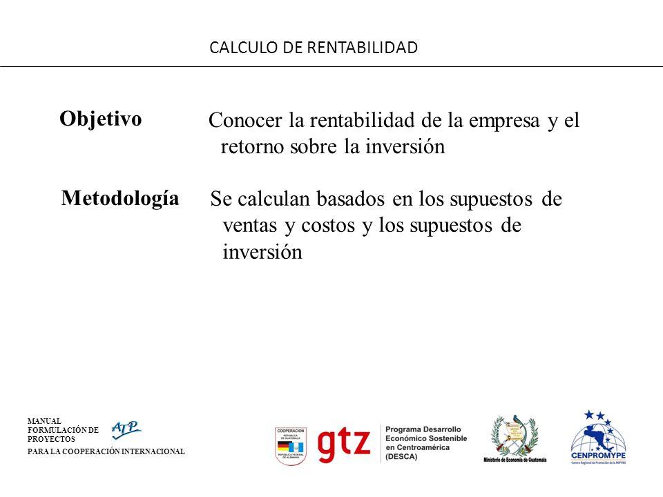 CALCULO DE RENTABILIDAD