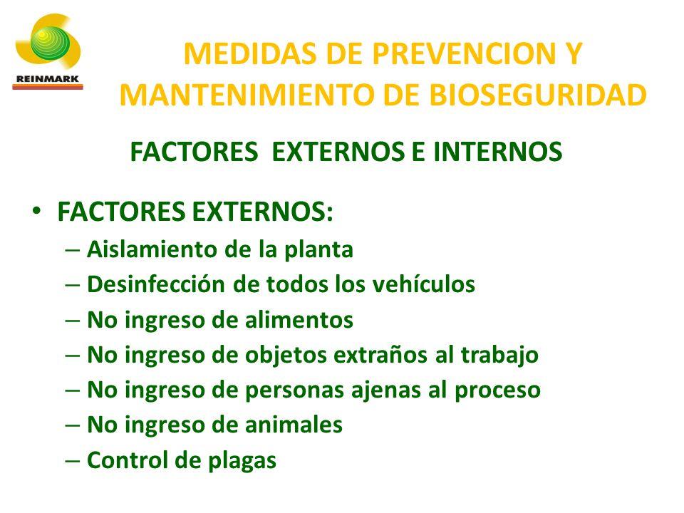 MEDIDAS DE PREVENCION Y MANTENIMIENTO DE BIOSEGURIDAD