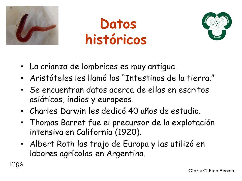 Datos históricos La crianza de lombrices es muy antigua.