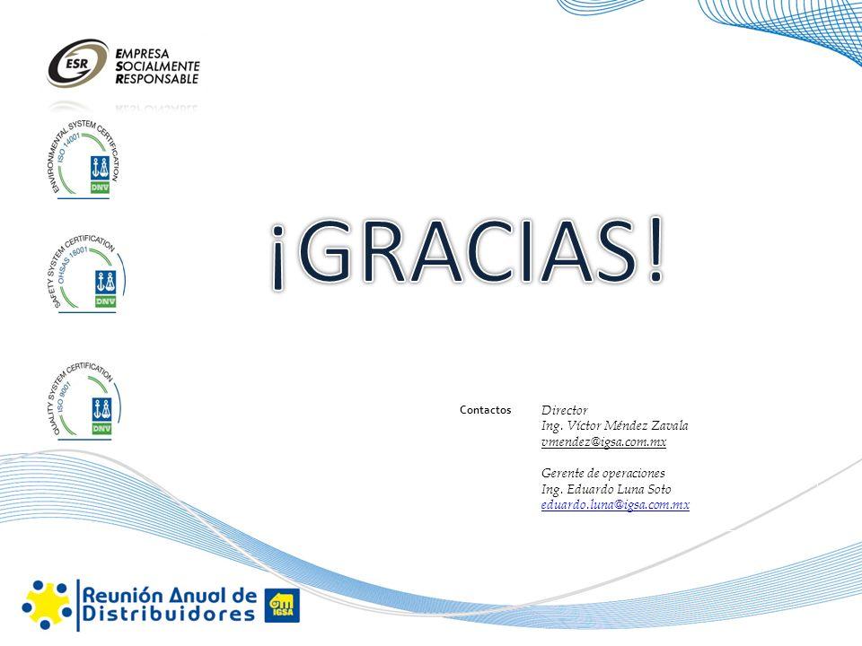 ¡GRACIAS! Director Ing. Víctor Méndez Zavala vmendez@igsa.com.mx