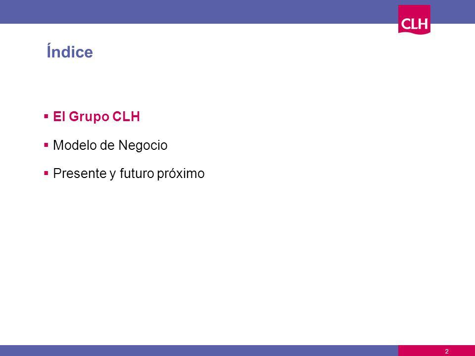 Índice El Grupo CLH Modelo de Negocio Presente y futuro próximo