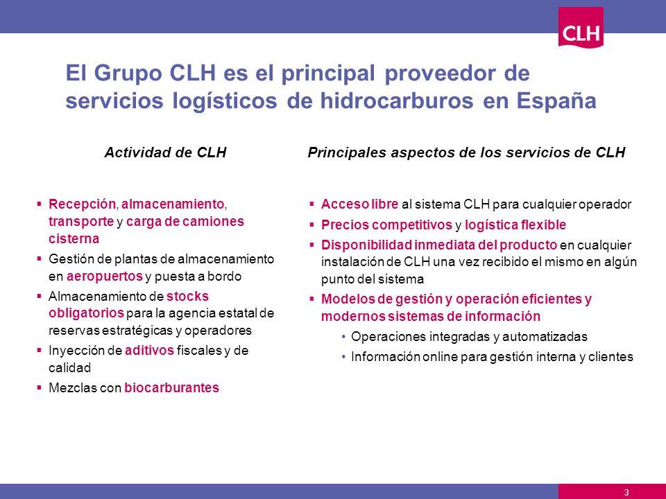 Principales aspectos de los servicios de CLH